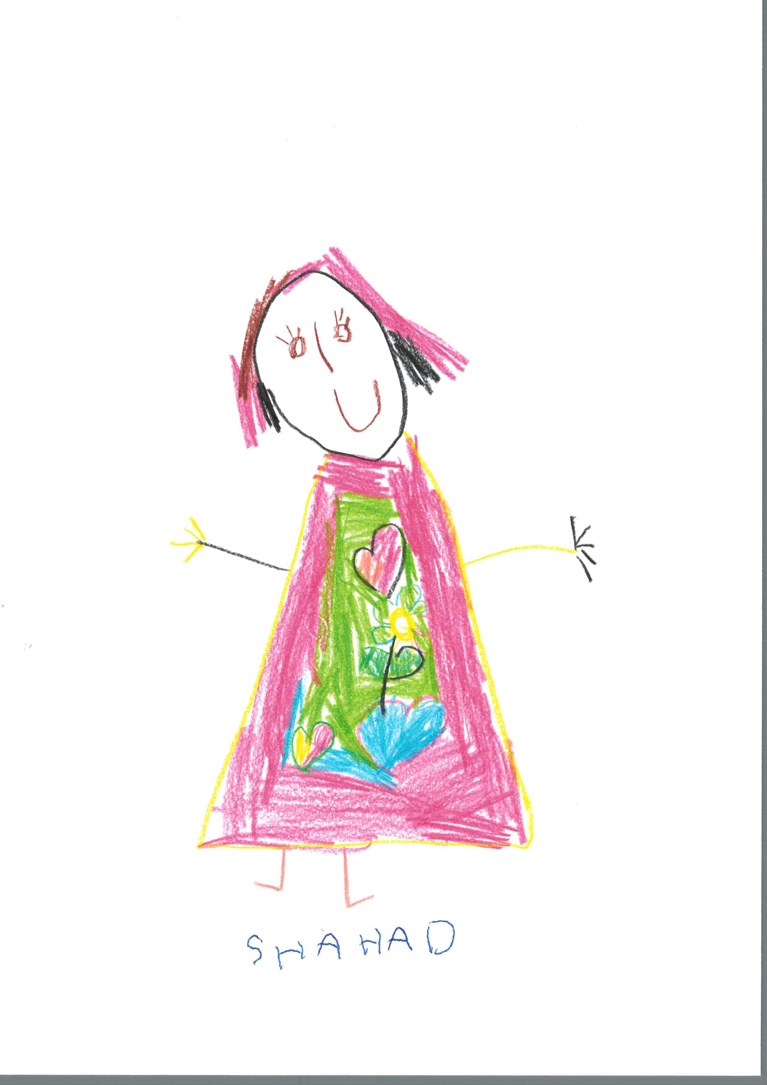 Zeichnung von Shahad- Kinderarztpraxis Frankfurt